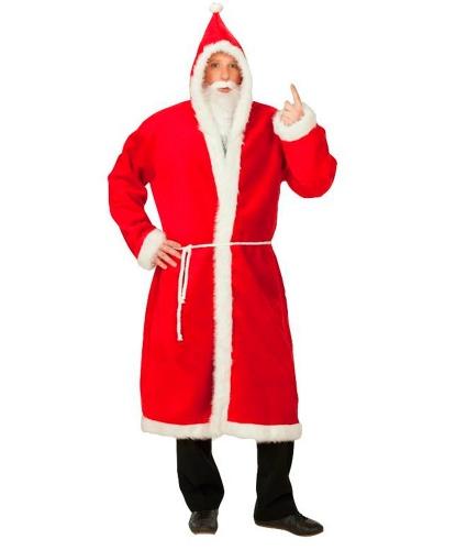 Шуба Санта-Клауса: борода, капюшон, пояс, шуба (Германия)
