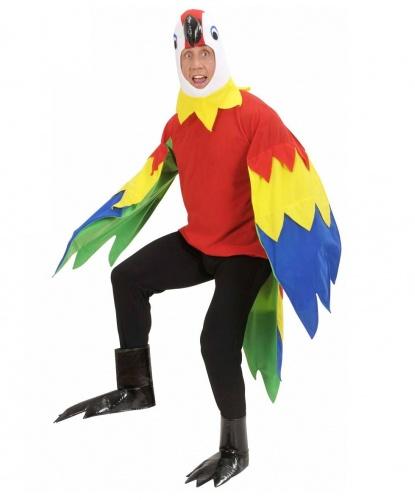 Костюм попугая: маска, кофта, накладки на обувь (Италия)
