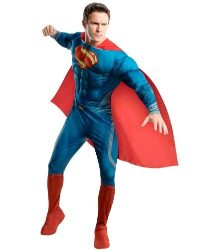 Взрослый костюм Superman: комбинезон, накидка (Германия)