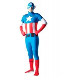 Костюм Капитана Америки (2nd Skin) (Zentai)