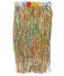 Длинная цветная гавайская юбка (80см)