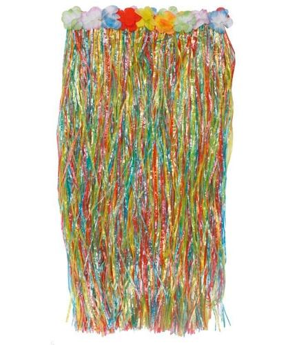 Длинная цветная гавайская юбка (80см): (Германия)
