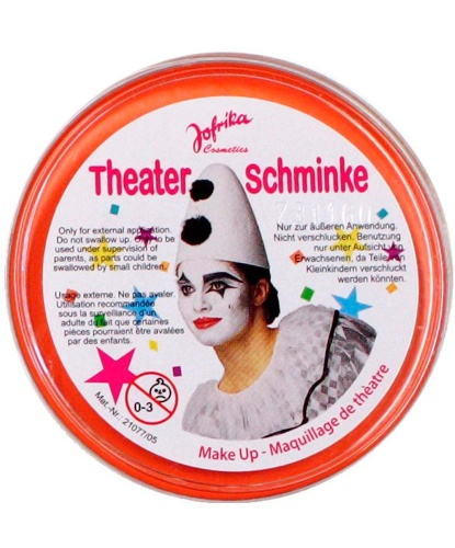 Масляный театральный грим оранжевый, шайба 25 гр (Германия)