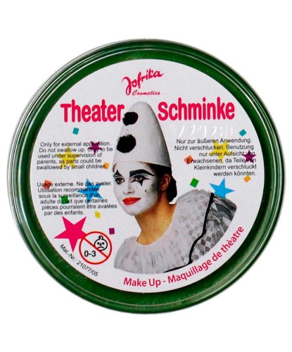 Масляный театральный грим зеленый, шайба 25 гр (Германия)