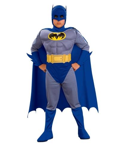 Костюм Бэтмена детский (темно-синий): комбинезон с плащем и маской, пояс (Германия)