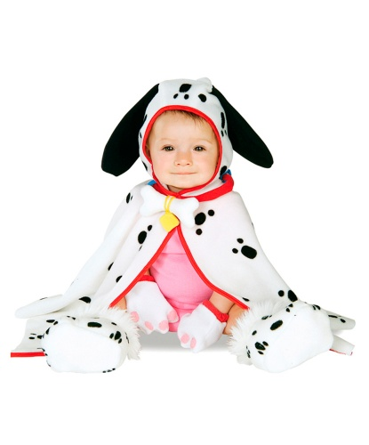 Костюм далматинца на малыша: варежки, накидка, пинетки (Германия)