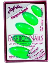 Зеленые накладные ногти