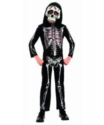 Детский костюм Скелет: маска, комбинезон (Германия)