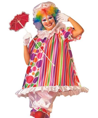 Костюм (платье) Клоунессы: рубашка, штаны, чепчик, воротник (Германия)
