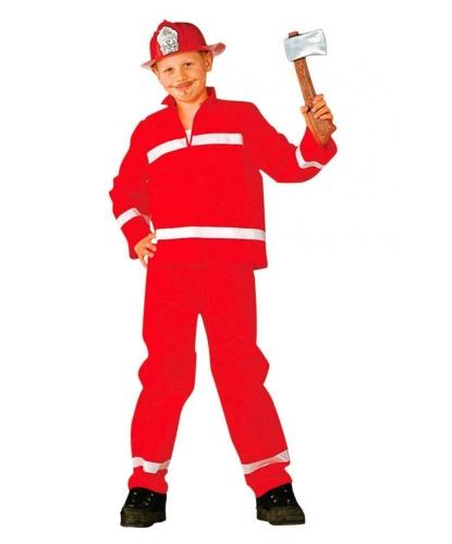 Детский красный костюм пожарного: кофта, шлем, штаны (Германия)