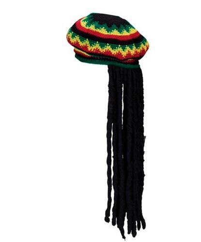 Головной убор растамана с волосами: черный (Германия)