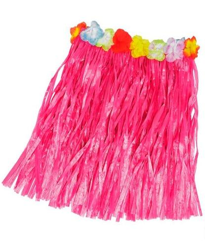 Розовая гавайская юбка (50см): (Германия)
