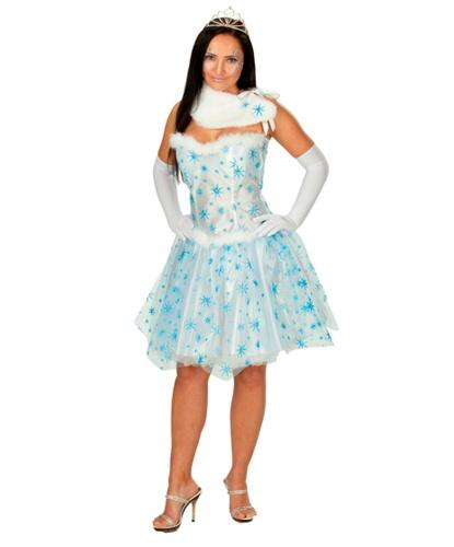 Взрослое платье снежинки: платье, воротник (Германия)