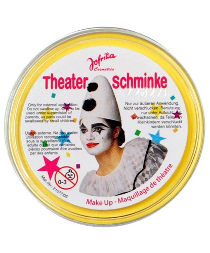 Масляный театральный грим желтый, шайба 25 гр (Германия)