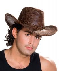 Ковбойская шляпа с металлической цепочкой