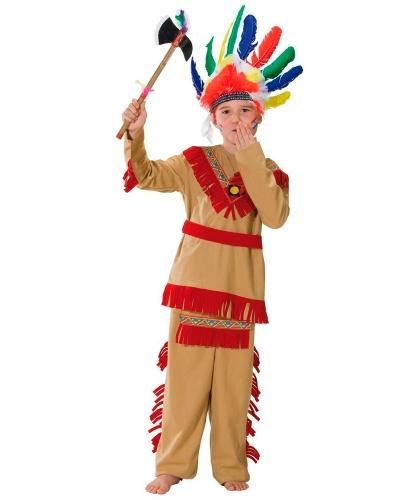 Костюм индейца на мальчика: набедренная повязка, пояс, рубашка, штаны (Германия)
