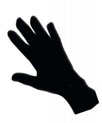 Перчатки черные короткие