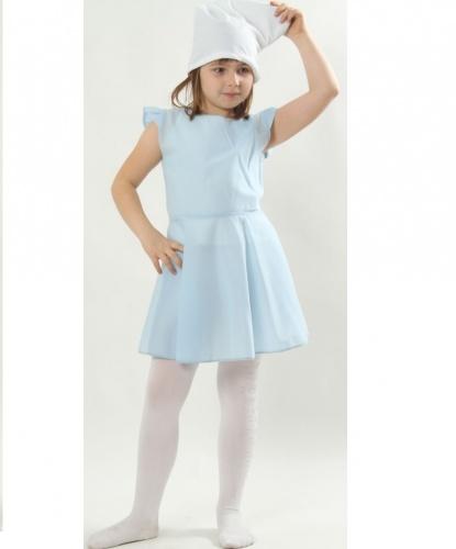Костюм Смурфа для девочки: платье, колпак (Польша)