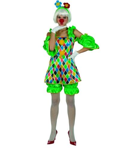 Женский костюм клоуна: платье, бриджы (Германия)