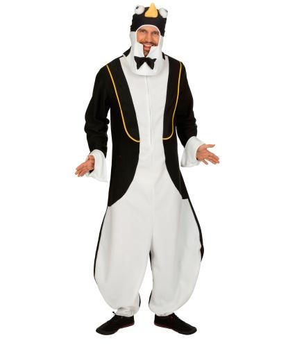 Взрослый костюм пингвина: комбинезон, шапка-капюшон (Германия)