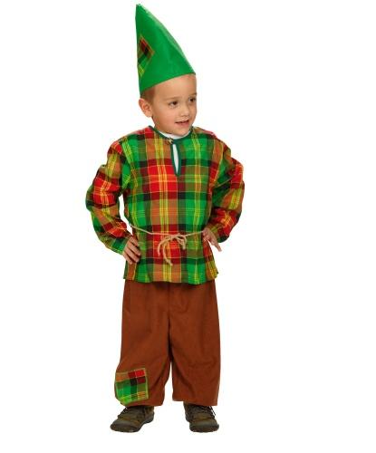 Костюм гнома для мальчика: колпак, брюки, рубашка, (Германия)
