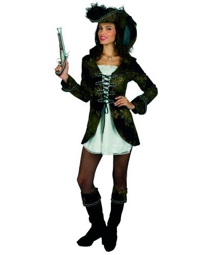 Пиратский костюм (женский): накладка на сапоги, платье, шляпа (Германия)
