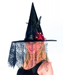 Колпак ведьмы с вуалью
