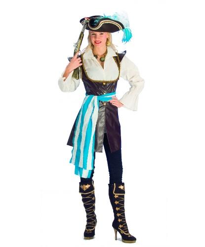 Женский костюм пиратки: рубашка, жилет, пояс (Германия)