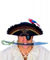 Пиратская шляпа с попугаем