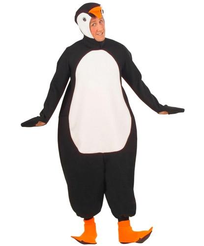 Взрослый костюм Пингвин: капюшон с маской, комбинезон, накладки на обувь (Италия)