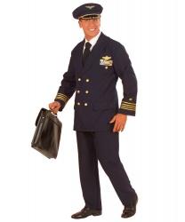 Темно-синий костюм пилота: брюки, пиджак, фуражка (Италия)