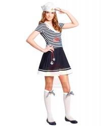 Женское морское платье