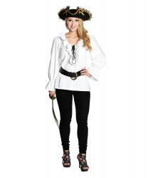 Белая пиратская рубашка