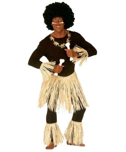 Костюм туземца: юбка на завязках, повязки на руки, повязки на ноги (Италия)