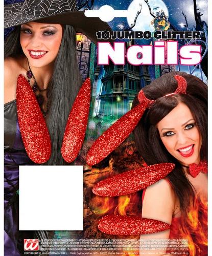 Накладные ногти красные: 10 ногтей (Германия)
