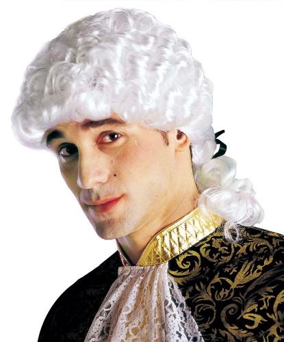 Парик маркиза мужской : белый (Италия)