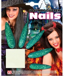 Накладные ногти зелёные