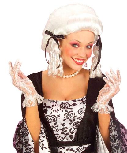 Белые кружевные (ажурные) перчатки (Италия)