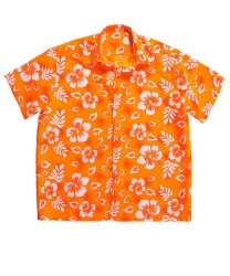 Гавайская рубашка оранжевая