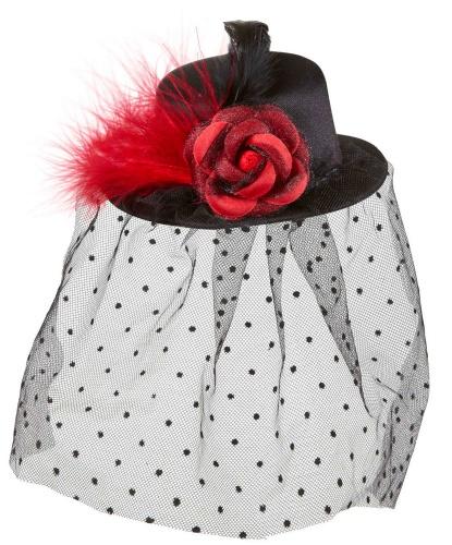 Мини-шляпка с вуалью (Италия)