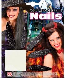 Накладные черные ногти