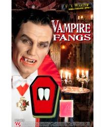 Клыки вампира с клеем