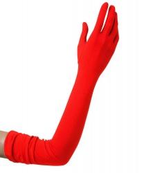 Перчатки красные длинные (60 см)