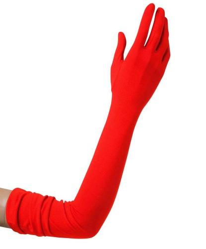 Перчатки красные длинные (60 см) (Италия)