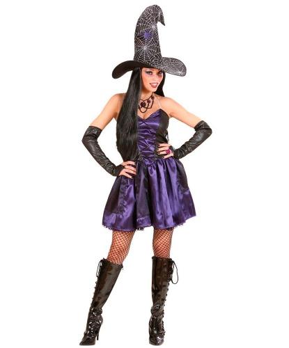 Костюм ведьмочки: платье, колпак, перчатки (Италия)