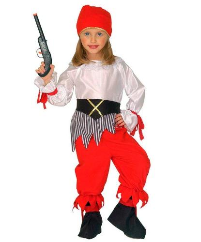 Костюм юной пиратки: бандана, блузка, пояс, штаны (Италия)