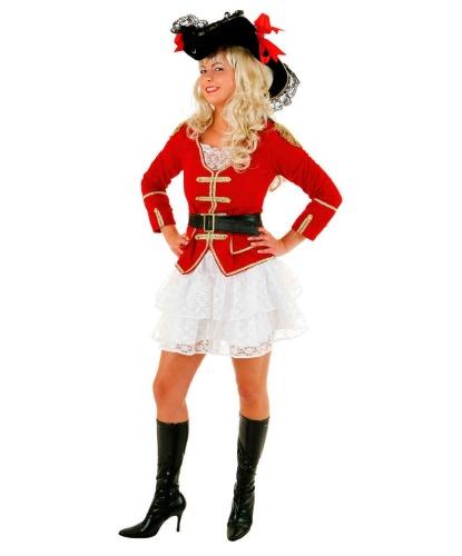 Красный костюм пиратки: камзол, юбка (Германия)