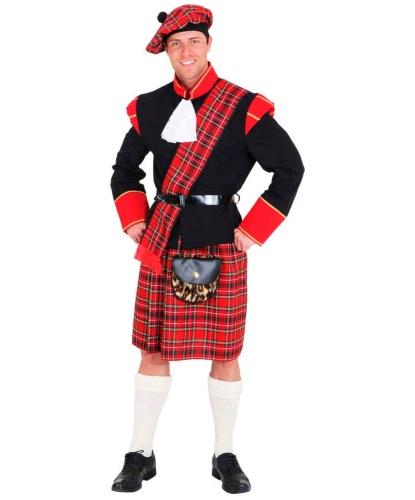 Костюм шотландца: берет, пиджак, пояс, килт (Германия)