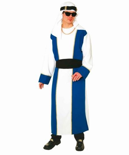 Взрослый костюм арабского шейха: головной убор, платье, пояс (Германия)