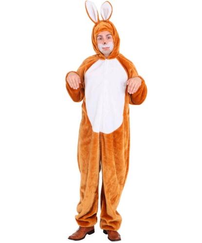 Взрослый костюм зайца: комбинезон с капюшоном (Германия)